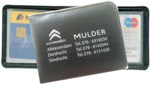 creditcardetui bedrukt met logo