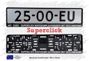 super click nummerplaathouder