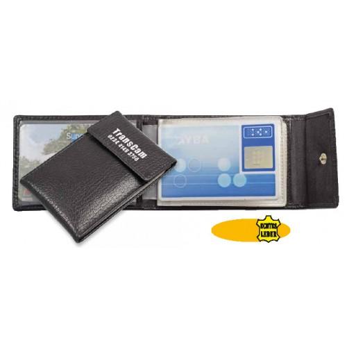 bedrukte rijbewijsetui/creditcardetui met drukknop