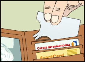 tekenkaart model creditcard