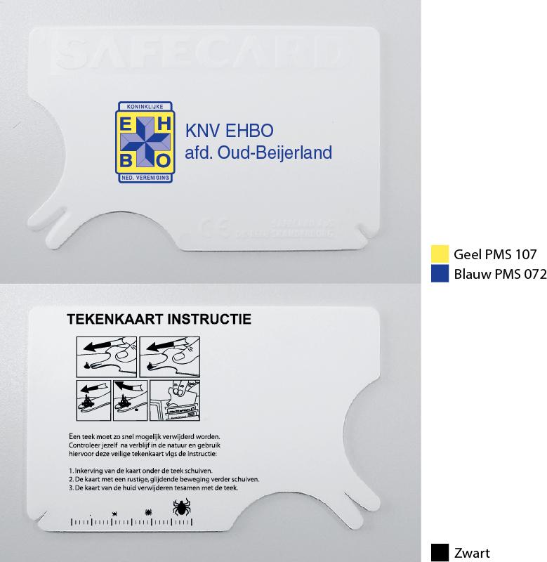 Tekenkaart bedrukt 2 kleuren en GRATIS demo achterzijde.