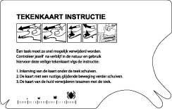 tekenkaart instructie
