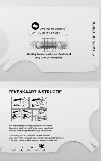 tekenkaart 1 kleur bedrukt en GRATIS demo+uitleg achterzijde