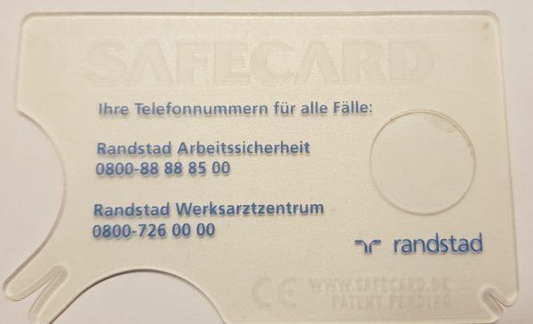 tekenkaart transparant met loep 1 kleur bedrukt.