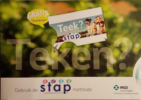 brochure met tekenkaart geplakt